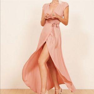 Reformation wrap maxi dress